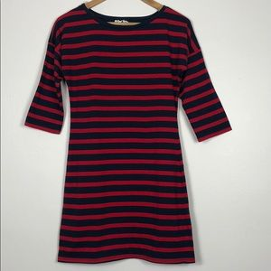 Planet Gold striped dress red/navy size M